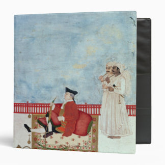 A European Seated on a Terrace with Attendants 3 Ring Binder
