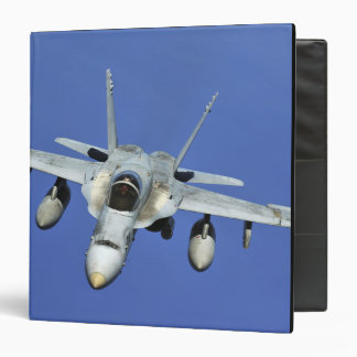 A F/A-18 Hornet participates in a mission 3 Ring Binder