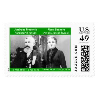 A. F. F. Jensen & Twin Amelia Jensen Russell Postage