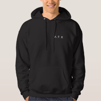 A. F. K HOODED PULLOVER