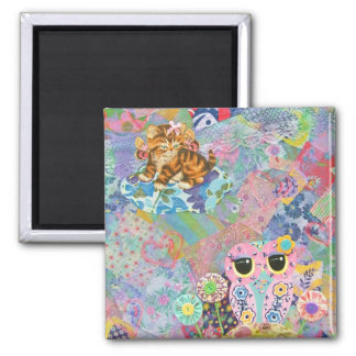 A Fabric Wonderland 2 Inch Square Magnet