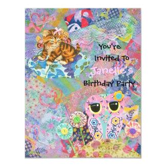A Fabric Wonderland Birthday Party Invitation