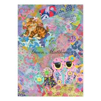 A Fabric Wonderland Large Business Cards (Pack Of 100)