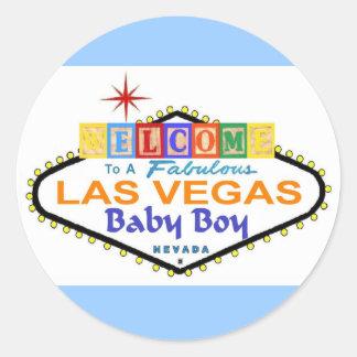 A Fabulous Las Vegas Baby Boy Sticker