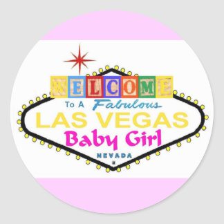 A Fabulous Las Vegas Baby Girl Sticker