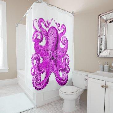 Beach Themed A fabulous Octopus purple/pink Shower Curtain