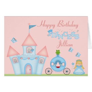 A Fabulous Princess Party Card