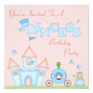 A Fabulous Princess Party 5.25x5.25 Square Paper Invitation Card