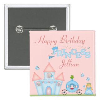 A Fabulous Princess Party Pinback Button