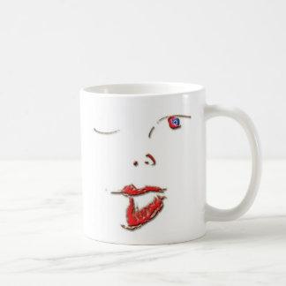 A face classic white coffee mug