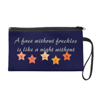 A Face Without Freckles... Wristlet