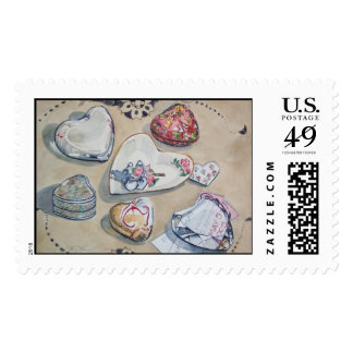 A Fair of Hearts Postage Stamp