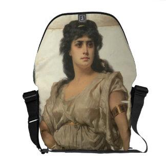 A Fair Warrior (oil on canvas) Courier Bags