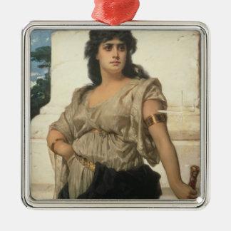 A Fair Warrior (oil on canvas) Metal Ornament