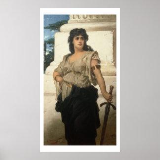 A Fair Warrior (oil on canvas) Poster