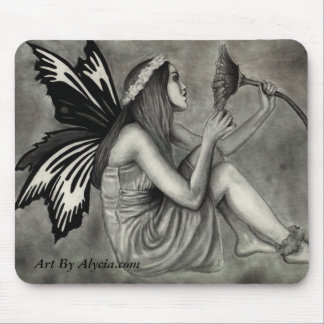 A Fairy And Her Flower Mouse Pad