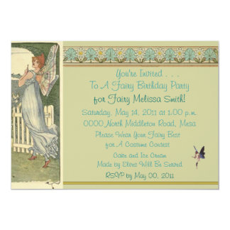 A Fairy Birthday Party Invitation