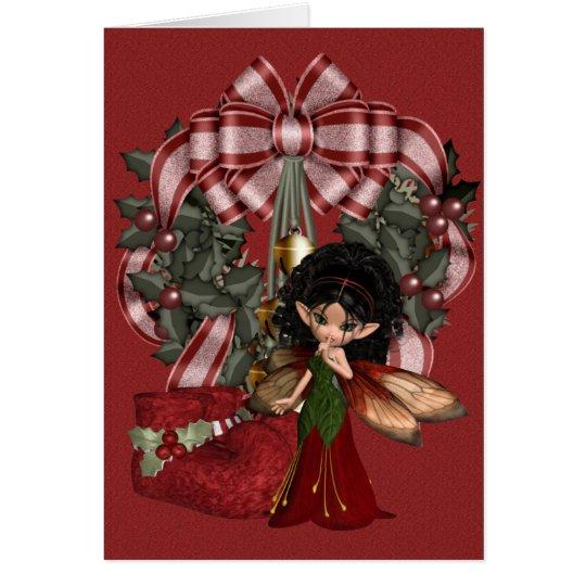 A Fairy Christmas .. fantasy art Card