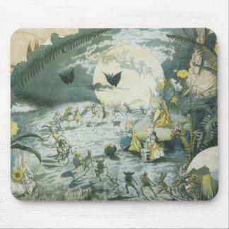 A Fairy Dance Full Moon Mousepads