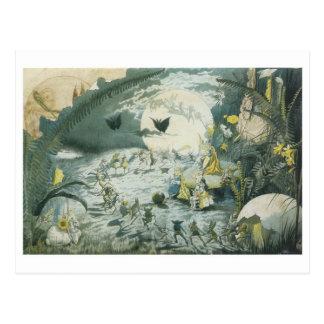 A Fairy Dance Full Moon Post Card