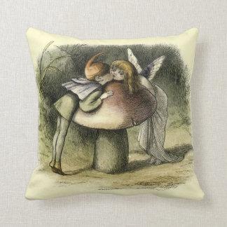 """""""A Fairy Kiss"""" by Richard Doyle - Pillow"""
