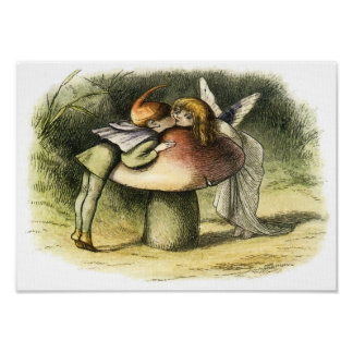 A Fairy Kiss by Richard Doyle Posters