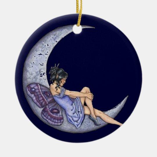 A Fairy Moon Ceramic Ornament