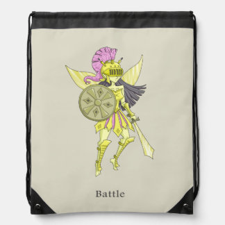 A fairy named Battle Drawstring Bag