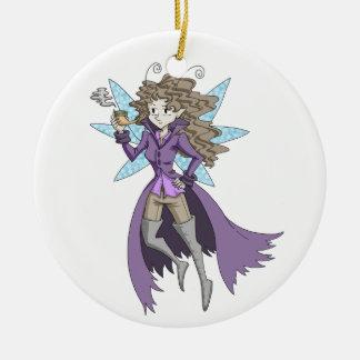 A fairy named Deduce Ceramic Ornament