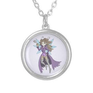 A fairy named Deduce Round Pendant Necklace