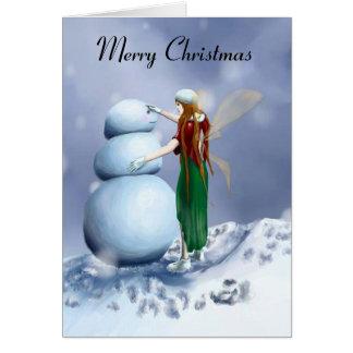A Fairy Snowy Winter Greeting Card