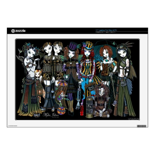 "A Fairy Steampunk Circus 17"" Laptop Skin Mac & PC"