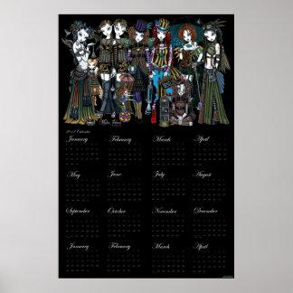 A Fairy Steampunk Circus 2012 Calendar Poster