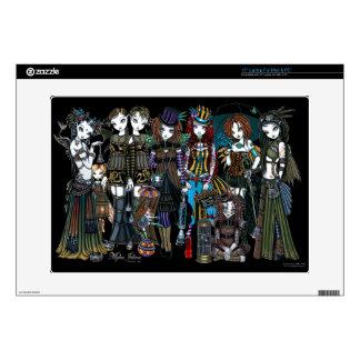 "A Fairy Steampunk Circus Sideshow 15"" Laptop Skin"