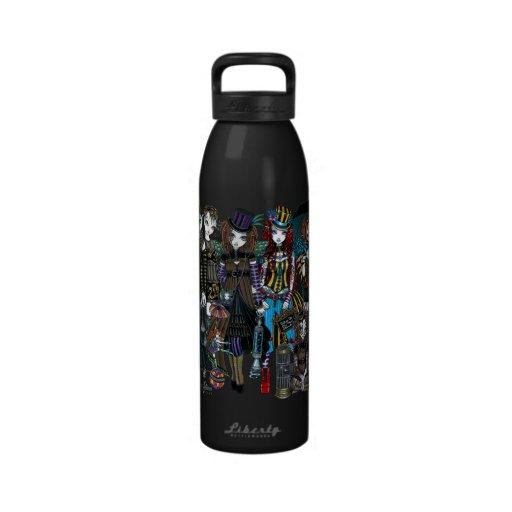 A Fairy Steampunk Circus Water Bottle
