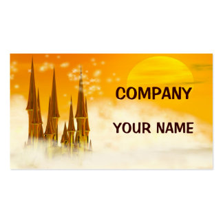 A Fairy tale castle Business Card Templates