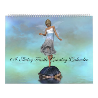 A Fairy Turtle Crossing Calender Wall Calendars