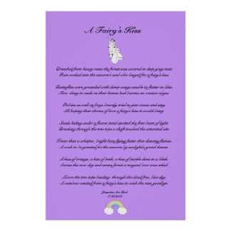 A Fairy's Kiss Children's Poster