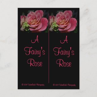 A Fairy's Rose Bookmarks Postcard postcard