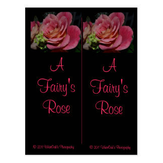 A Fairy's Rose Bookmarks Postcard