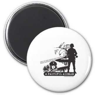 A Faithful Airman 2 Inch Round Magnet