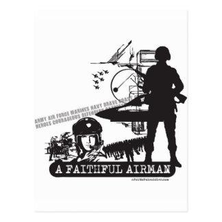 A Faithful Airman Post Card