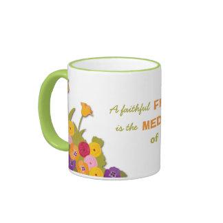 A Faithful Friend Floral Ringer Mug