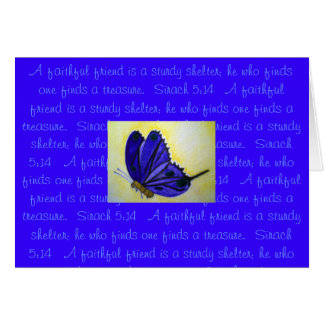 A faithful friend...Scripture Note Card