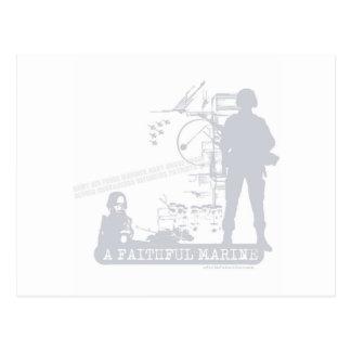 A Faithful Marine Postcard