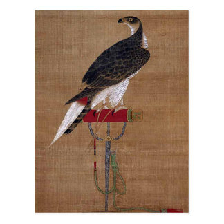 A Falcon - 16th Century Korean Scroll Postcard