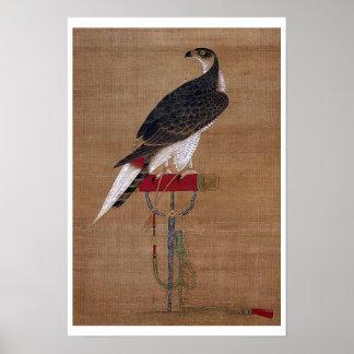 A Falcon - 16th Century Korean Scroll Poster