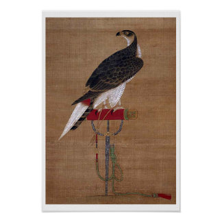 A Falcon - 16th Century Korean Scroll Posters