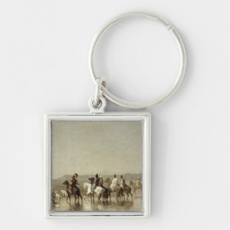 A Falcon Hunt, 1862 Keychain