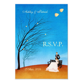 A Fall (in Love) Story RSVP Card
